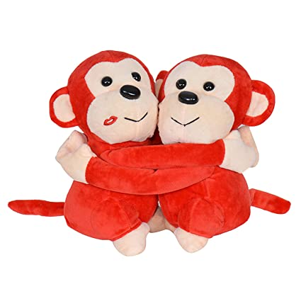 Buy Chords Plush Hug Monkey Couple Soft Toy Online at Low Prices in ...