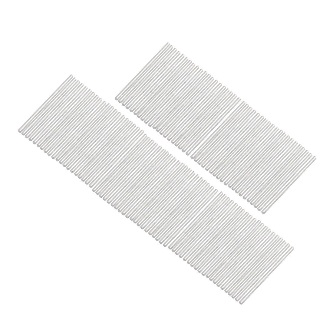 uxcell 100pcs Round Shaft Solid Steel Rods Axles 2.1mm x 50mm Silver Tone