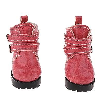 Accesorios de Ropa Fashion Par de Zapatos de Tobillo Cargadores de Martin para SUB 1/3 1/4 SD BJD Muñecas - Rosado: Juguetes y juegos