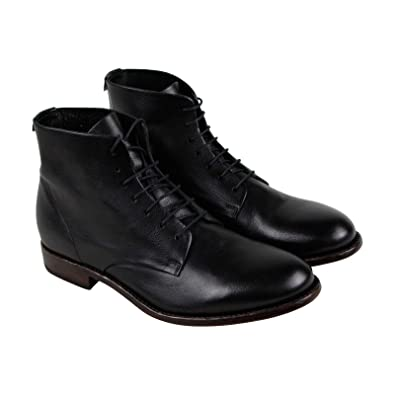 2eb14c567 Amazon.com: FRYE Men's Harrison Lace-Up Black Buffalo Smooth Full Grain  11.5 D US: Shoes