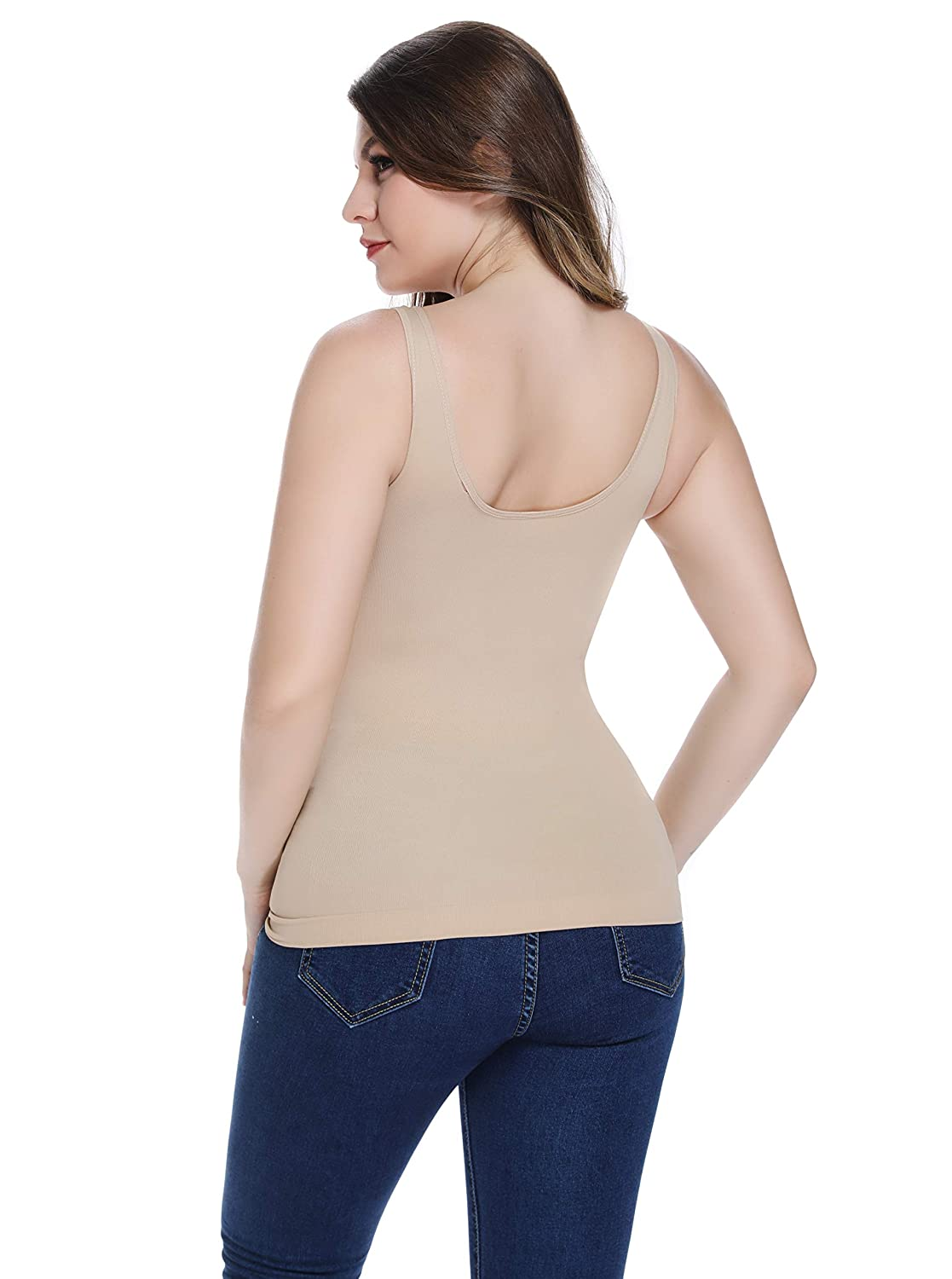 23bb9ef3b1 Joyshaper Vest Tops Women Camisole Wide Strap Tank Top Padded Vest  Sleeveless Vest for Women Compression Tank Tops Seamless Undershirt Shaping  Vest  ...