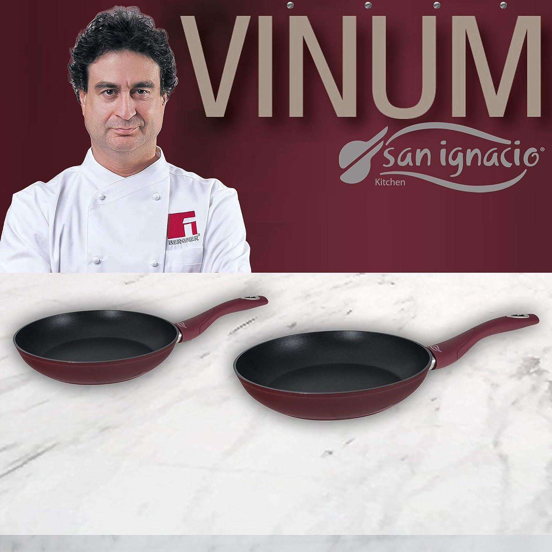 San Ignacio PK1321 Set de Sartenes VINUM-Ø20/24 cms, Aluminio Forjado, Mango ergonómico Soft Touch a Juego-Especial Gas y vitro (no inducción)