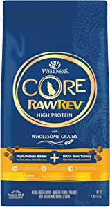 Wellness CORE RawRev Wholesome Grains Natural Dry Puppy Food, Freeze Dried Meat & Kibble, Chicken