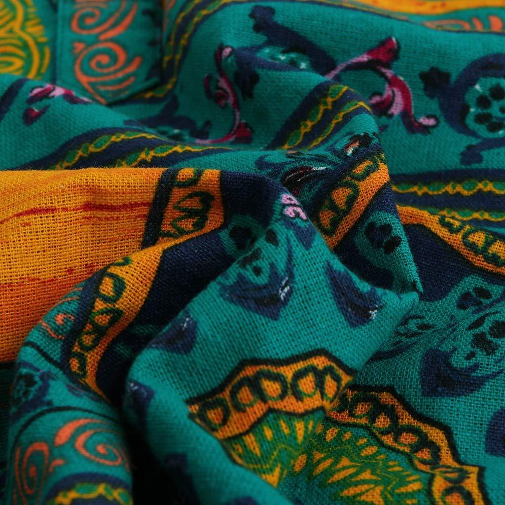 Casual Cotton Linen Printed Short Sleeve Henley Shirts Tie Summer Tops TOOPOOT Summer Linen Shirts for Men