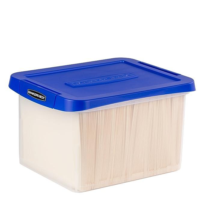 Amazon.com: Bankers Box Heavy Duty Plastic File Box with ...