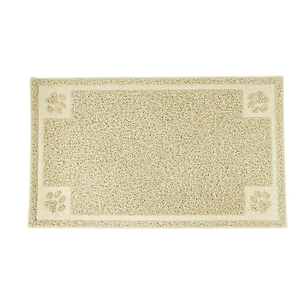 Roblue Tapis de Litière pour Chat Square Antidérapant Durable Facile à Nettoyer en PVC 30x50CM YEAH