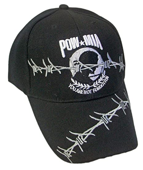 POW-MIA You Are Not Forgotten Embroidered Black Hat at Amazon Men s ... 3f165c242c79