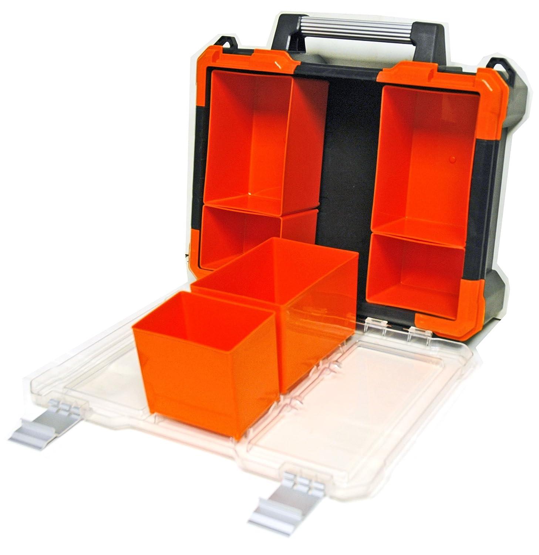 Homak Manufacturing HA01080643 Plastic Bins Set of 8 Orange Small