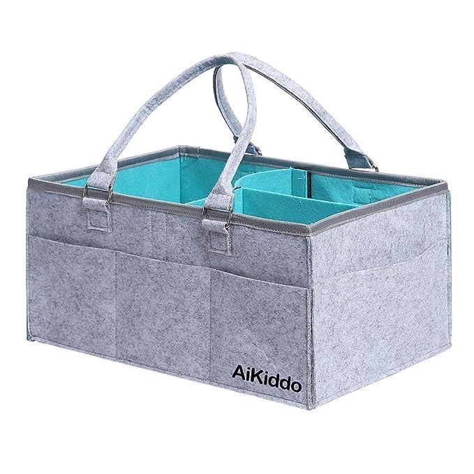 Felt Baby Diaper Caddy Organizer Foldable Storage Bag Box for Kids Nappies