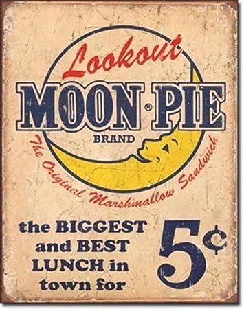 Amazon.com: MutterMui Vintage Moon Pie Distressed Retro Wall Sign ...