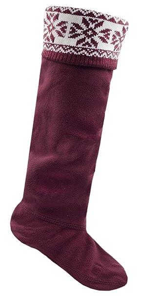 Fairisle Para Dama Top Polar Botas De Agua Forros Calcetines De Bota - sintético, Morado