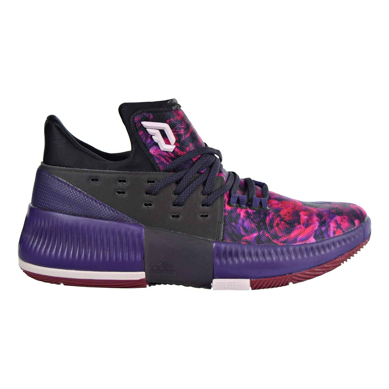 adidas Dame 3 Shoe Men's Basketball 8 Core Black-Ice Purple-Burgundy