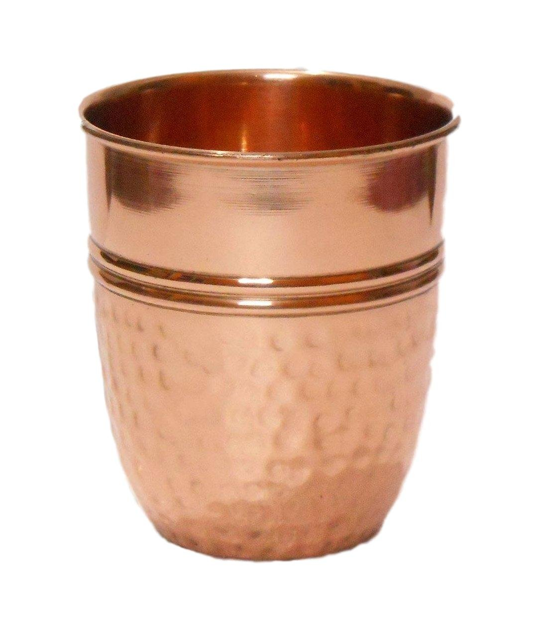 Premium Quality Hammered Copper Tumbler - 100% Pure Hammered Copper Tumbler for Moscow Mules Alchemade 2024