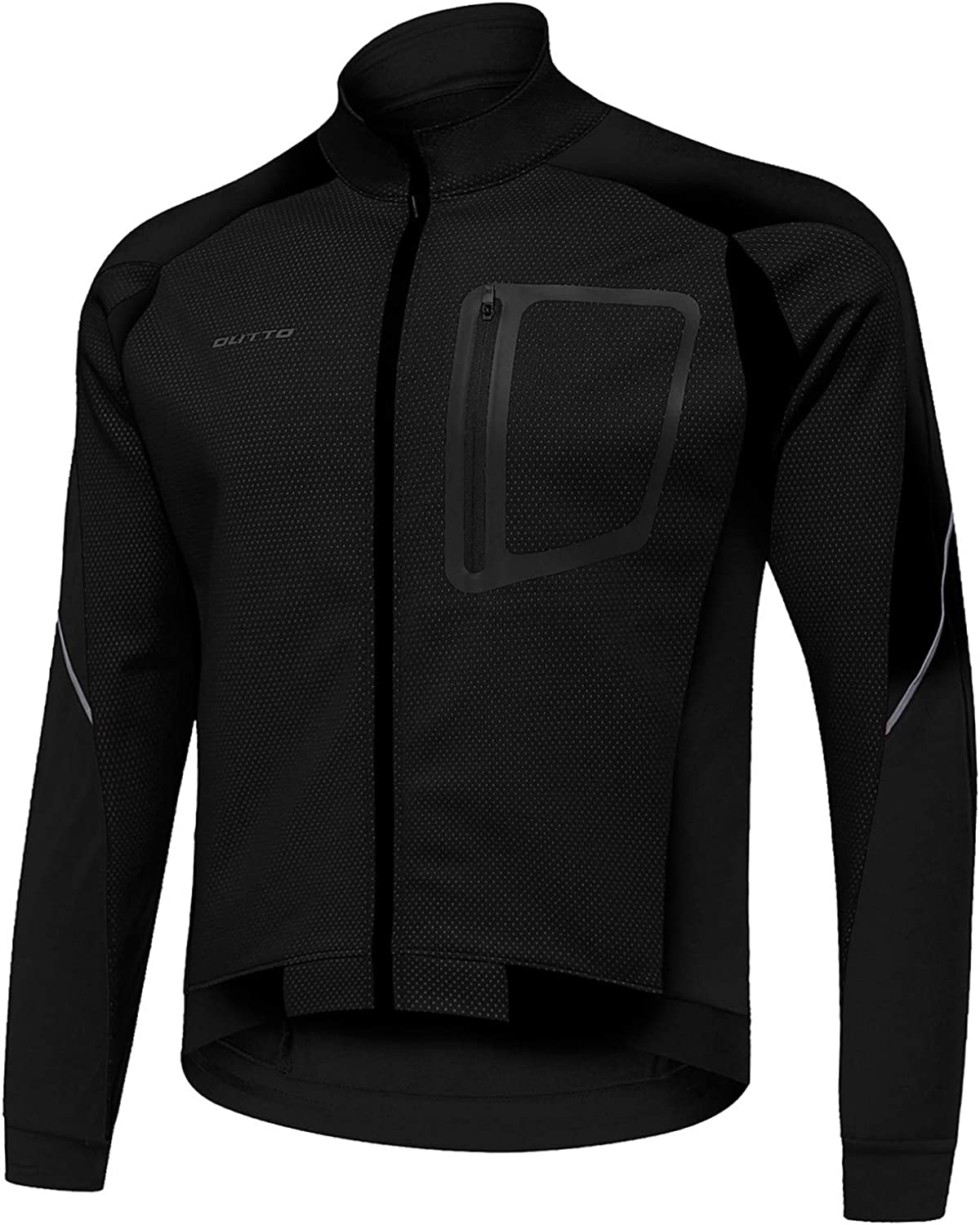 OUTTO Mens Winter Cycling Jacket Reflective Water Resistant