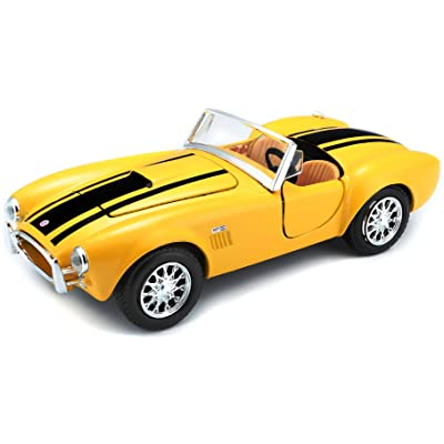 Maisto 1:24 Scale 1965 Shelby Cobra 427 Diecast Vehicle (Colors May Vary): Toys & Games