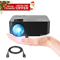 "DBPOWER Mini proyector, 2200 Lumen Proyector LED de Video HD 1080P con Pantalla de 176"", Vida útil de 50,000 Horas, proyector para Cine en casa Compatible con Amazon Fire TV Stick"