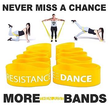 fitaction resistencia equipo de baile – Bandas de ejercicio para fitness, yoga, pilates,