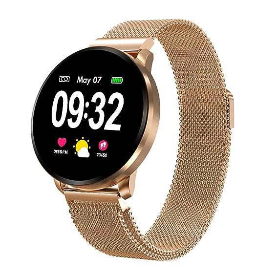 Smartwatch Fashion para Hombre Mujer Reloj Inteligente con Pantalla ...