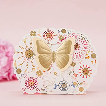dngcity gold butterfly bridal baby shower chocolate boxes 100pieces