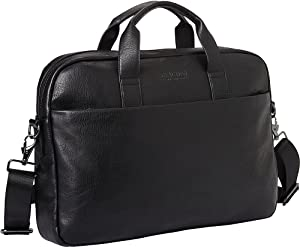 "Kenneth Cole Reaction Modern Dilemma Pebbled Faux Leather 15.6"" Laptop & Tablet Business Case Bag, Black - Style #2, One Size"