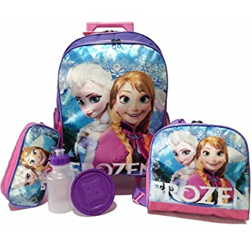 f7643548f7 Kit Mochila Frozen de Rodinhas com Lancheira e Estojo  Amazon.com.br ...