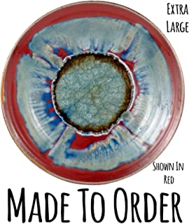 product image for Extra Large Centerpiece Geode Plate Made to Order, Fused Glass Platter, Handmade Ceramic Platter, Handmade Ceramic Centerpiece, Plate