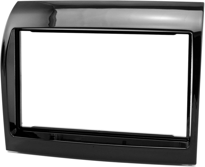 Fa/çade autoradio double DIN pour Fiat Ducato Facelift /à partir de 2011 PIANO Noir brillant