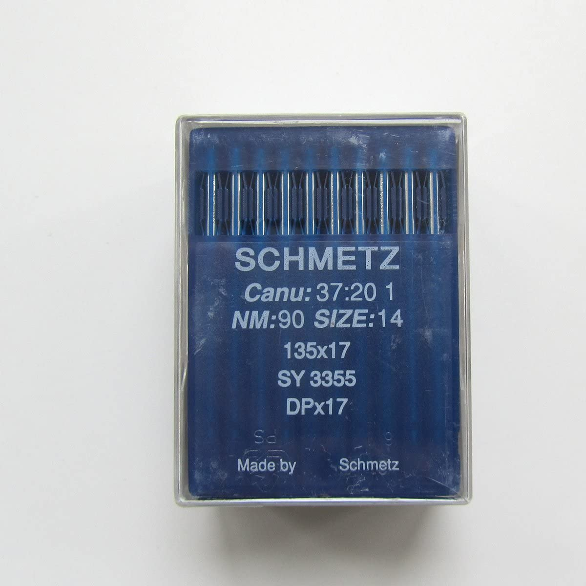125 INDUSTRIAL SEWING MACHINE NEEDLES DPX17 SY3355 10 SCHMETZ  135X17 SIZE#20