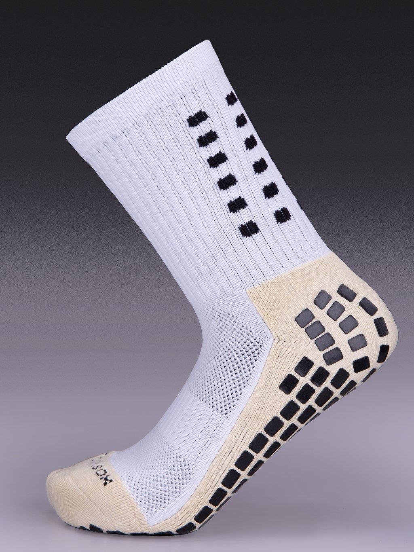 ddcceae83 Tocksox Trusox Style Anti Slip Football Soccer Socks Sport, Basketball,  Hiking, Running, (White): Amazon.co.uk: Sports & Outdoors