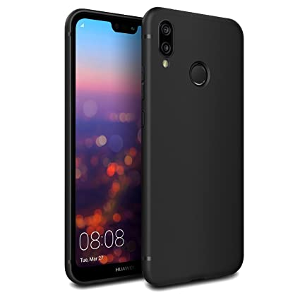 EasyAcc Case for Huawei P20 Lite, Black TPU Phone Case Matte Finish Slim  Profile Phone Cover Compatible with Huawei P20 Lite