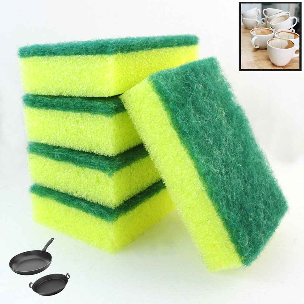 60 xロットキッチンスポンジScrubber Scourer Bathroom DishesシャワーPansタイル 2020 人気の定番 新作 B07CYZY3CX Clean