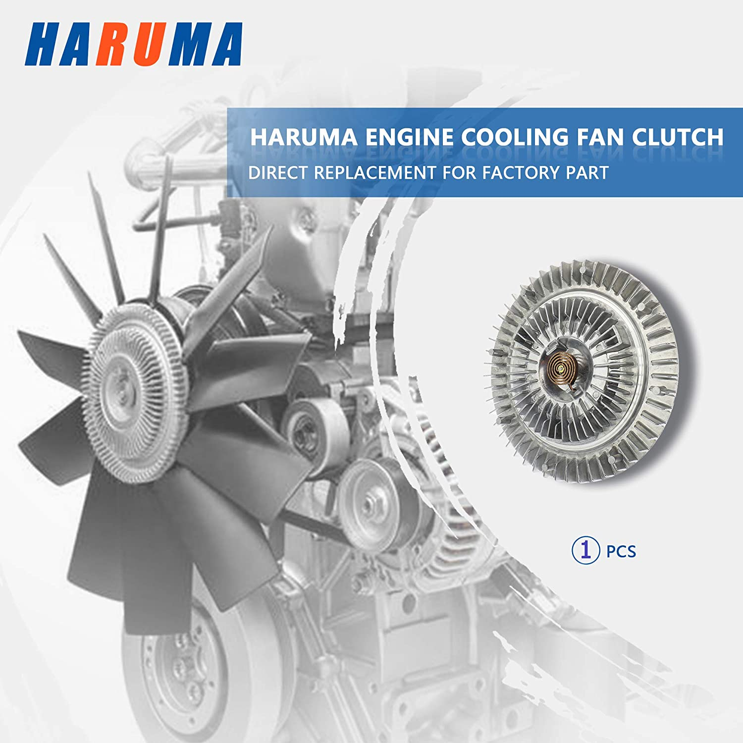 Clutches 2748 Cooling Fan Clutch for Dodge Ram 1500 2002-2008 3.7L ...