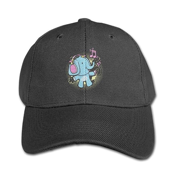 119ff8185ee6a Purple Bfdfd Boy-Girl Adjustable Trucker Hat DJ Headphone Elephant Kids  Baseball Size Caps