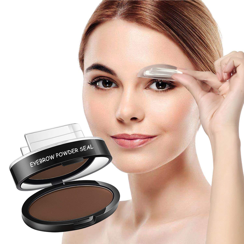 Turelifes Waterproof Eye Brow Stamp Powder Perfect Eyebrow Power Seal Nature Delicate Shape Dark Brown Amazoncouk Beauty