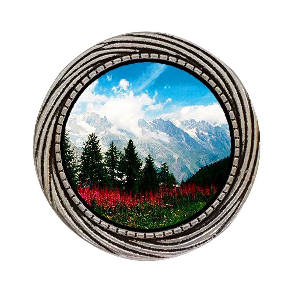GiftJewelryShop Ancient Style Silver Plate Travel German Alps Winding Pattern Pins Brooch