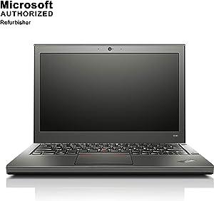 Lenovo ThinkPad X240 12.5 Inch Business Laptop, Intel CoreI5-4200U up to 2.6GHz, 8G DDR3L, 128G SSD, WiFi, VGA, Mini DP, USB 3.0, Win 10 64 Bit Multi-Language Support English/French/Spanish(Renewed)