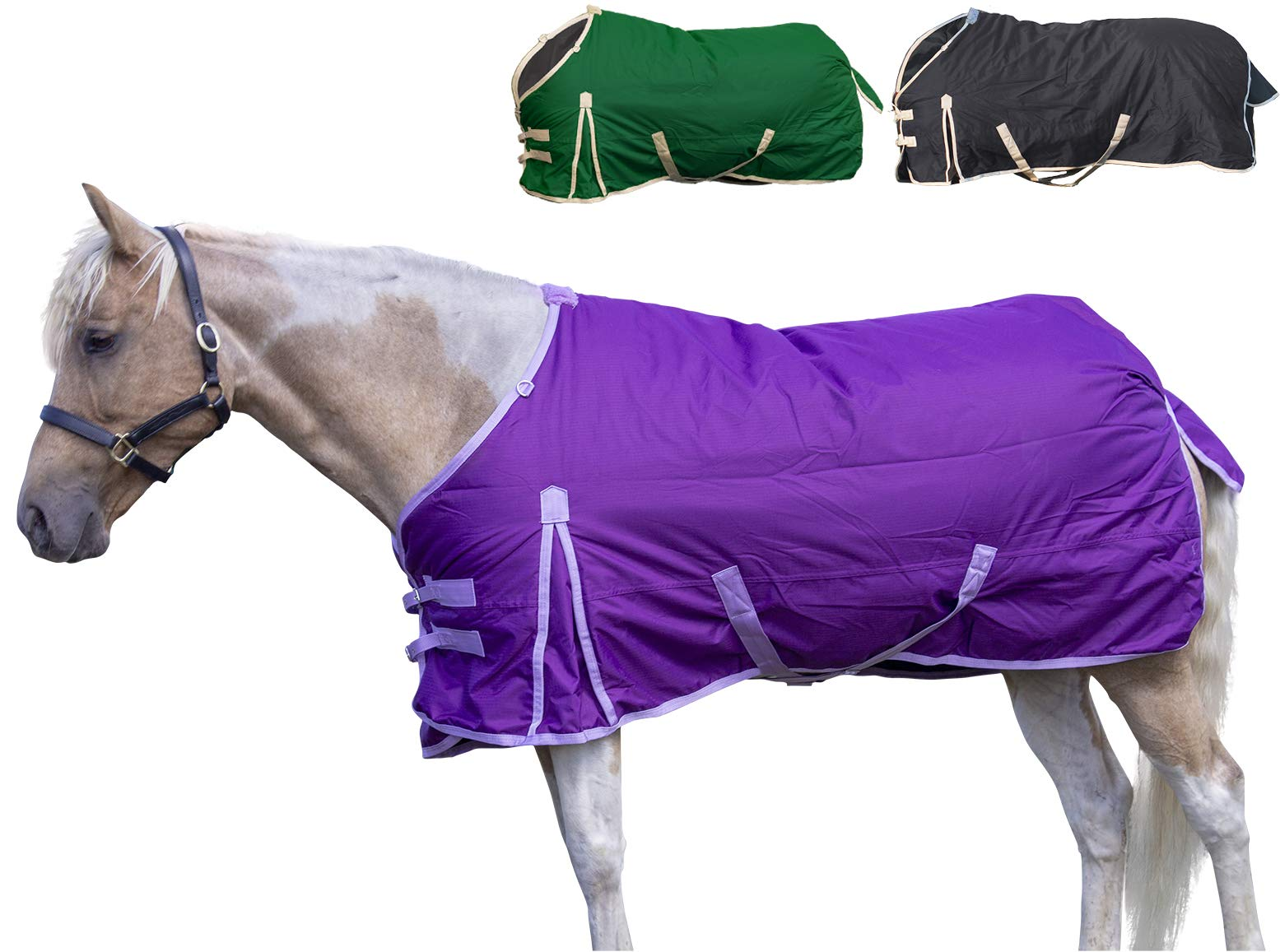 Derby Originals Deluxe 600D Nylon Winter Turnout Blanket- Horse and Pony Sizes by Derby Originals
