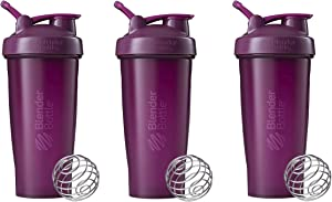 BlenderBottle Classic Loop Top Shaker Bottle 3-Pack, 28 oz (Plum)