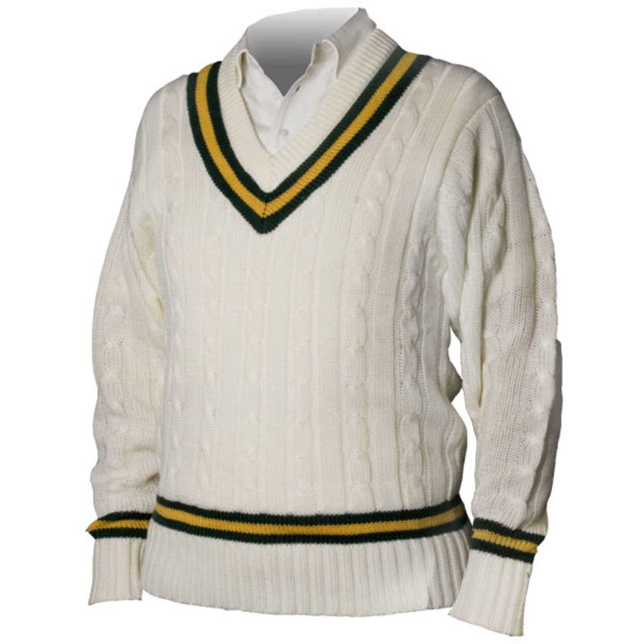 Cricket Sports SWEATER ACRYLIC PLAIN PULLOVER JUMPER NAVY/RED