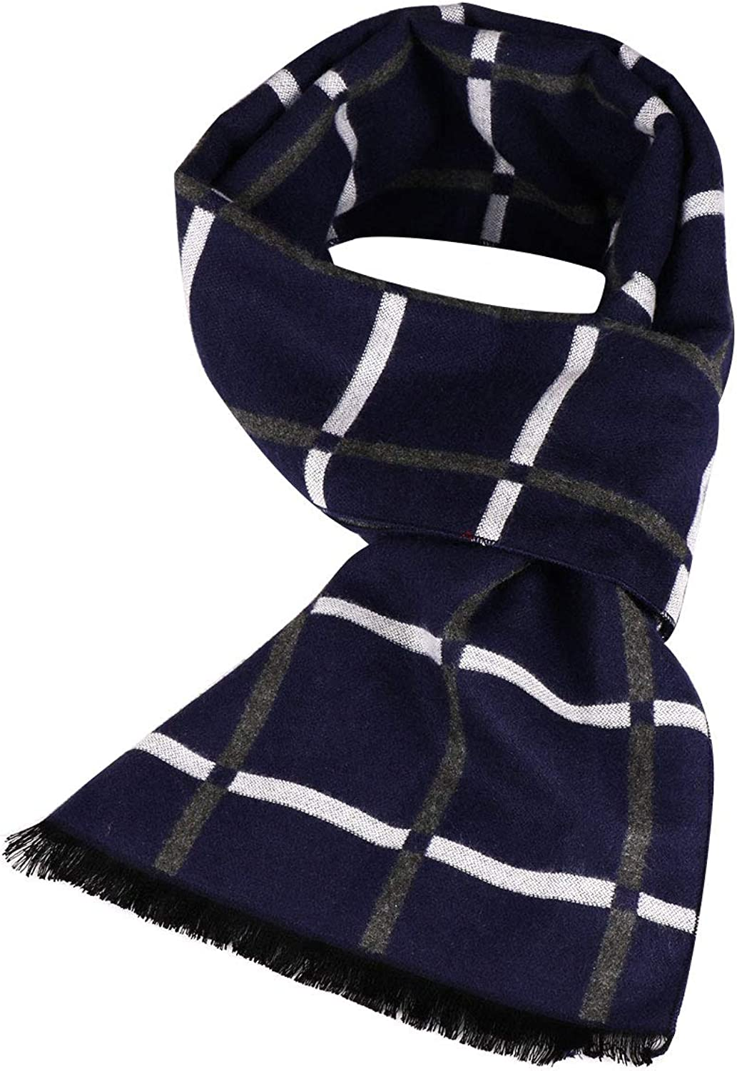 """Coloris Edition 100/% Pure Cashmere Viscose Winter Scarf for Men Boys Long Soft Warm Men Scarf for Gift 18/""""x71/"""""""