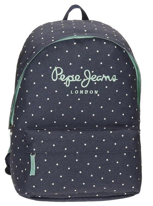 Pepe Jeans Denim Dots Mochila Escolar, 42 cm, 22.79 litros, Azul ...