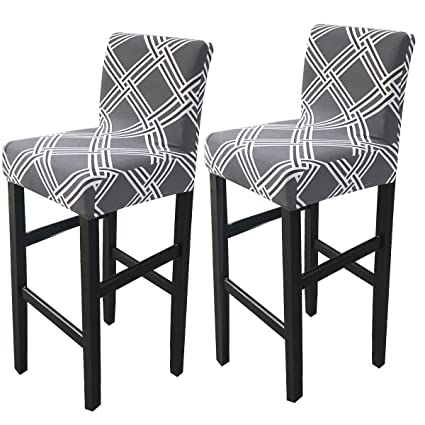 Surprising Deisy Dee Stretch Slipcovers Chair Cover For Counter Height Side Chairs Covers Stretch Protectors Pack Of 2 C172 H Gmtry Best Dining Table And Chair Ideas Images Gmtryco