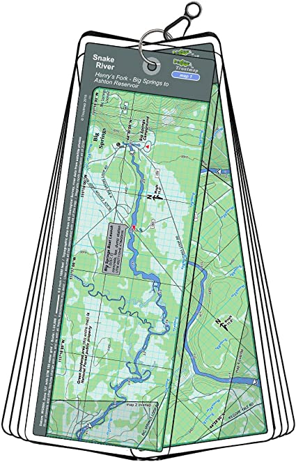Henry/'s Fork Digital GPS Fishing Map