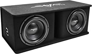 "Skar Audio Dual 12"" 2400W Loaded SDR Series Vented Subwoofer Enclosure 