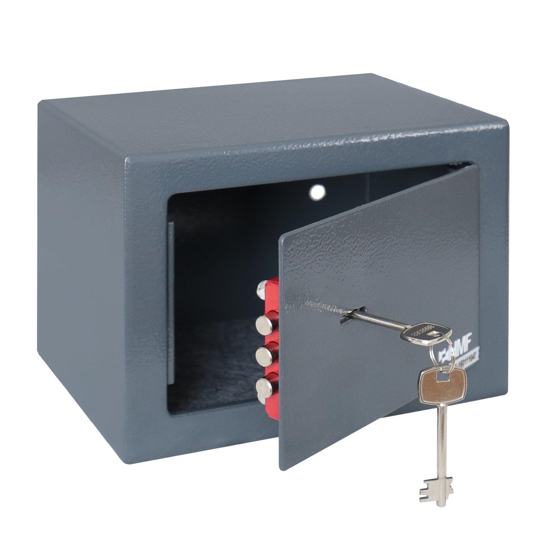 HMF 49216-11 Fuerte, Cerradura de Doble Paletón, Paletón, Doble Caja de Seguridad, 23 x 17 x 17 cm, antracita 861d61