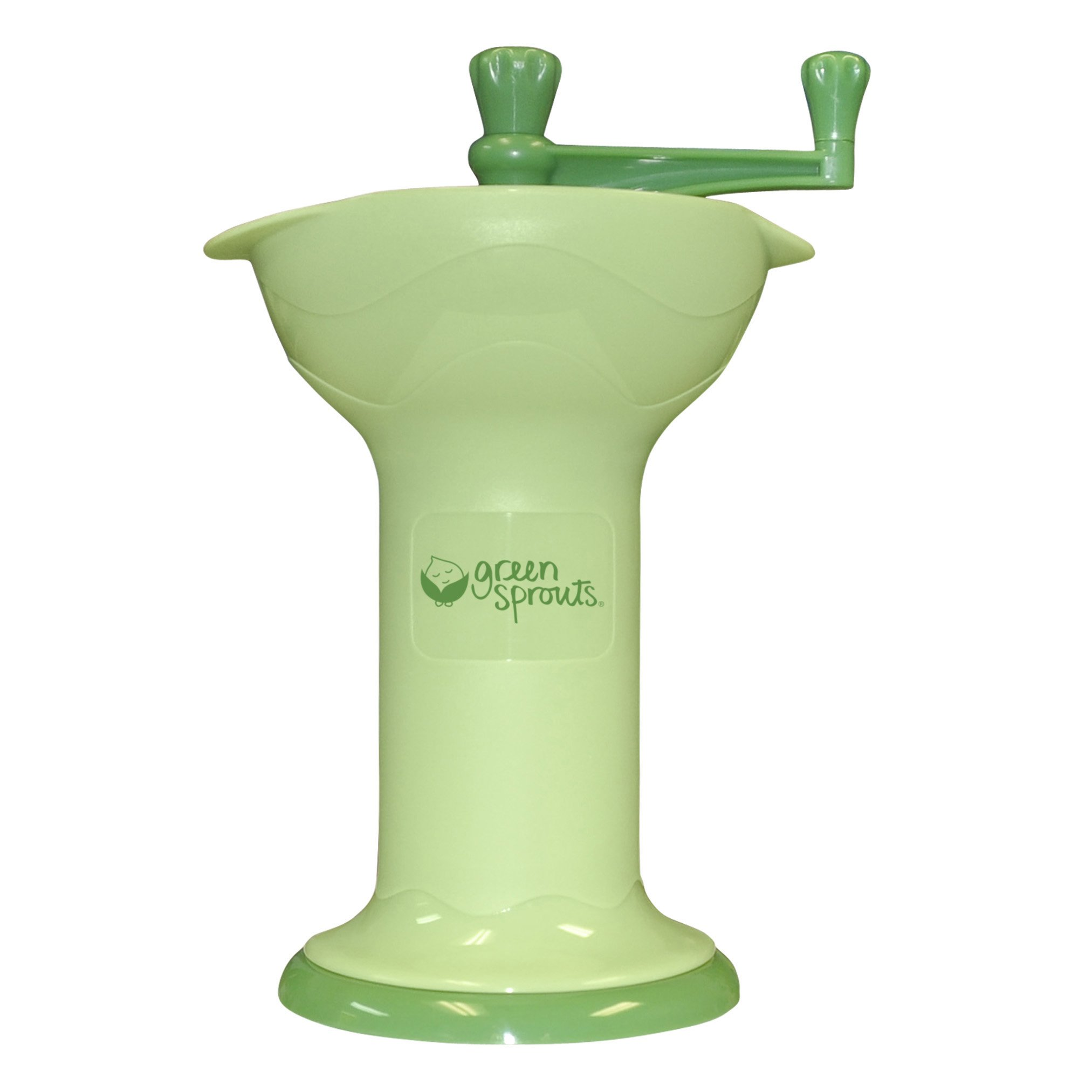 green sprouts Fresh Baby Food Mill | Easily purees food for baby | Seperates seeds & skins from puree, Compact size, No batteries or electricity needed, Dishwasher safe by green sprouts