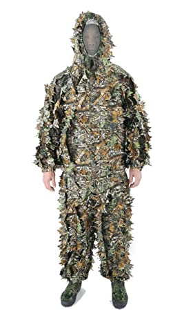 6e248f6b0a762 Myheartgoon Super Light Camouflage Jacket Pants 3D Leafy Ghillie Suit  Hunting Suit (XXL)