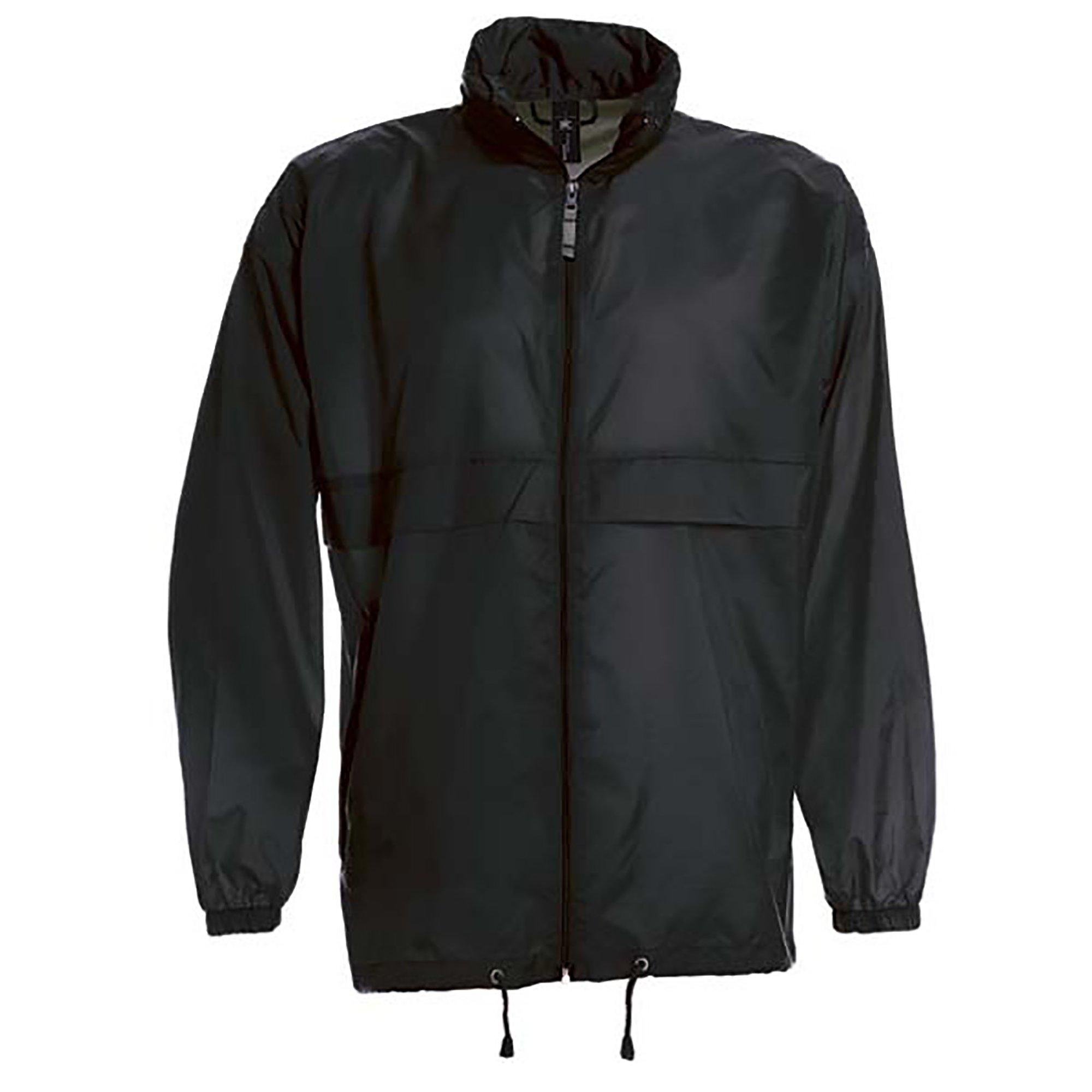 B&C Sirocco Mens Lightweight Jacket/Mens Outer Jackets (XL) (Black)