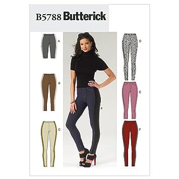 Butterick Schnittmuster 5788 B5 Damen Leggings in 6 Varianten Gr. 8 ...