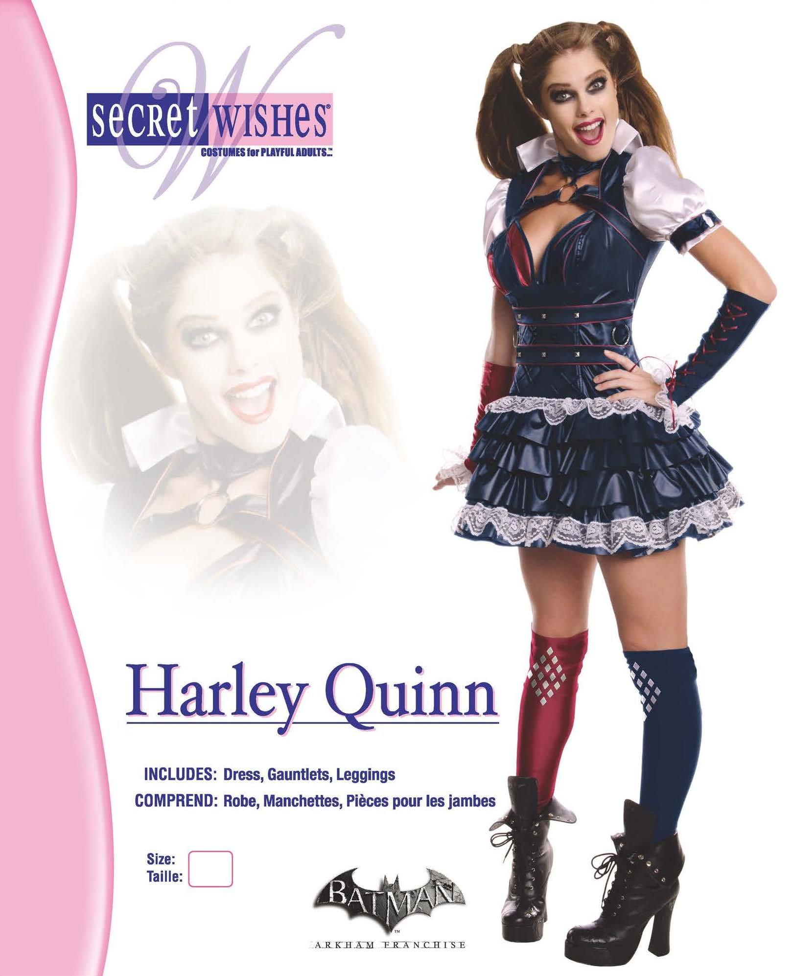 f0bb06849ecd52 Secret Wishes Women's Arkham Knight Harley Quinn Costume